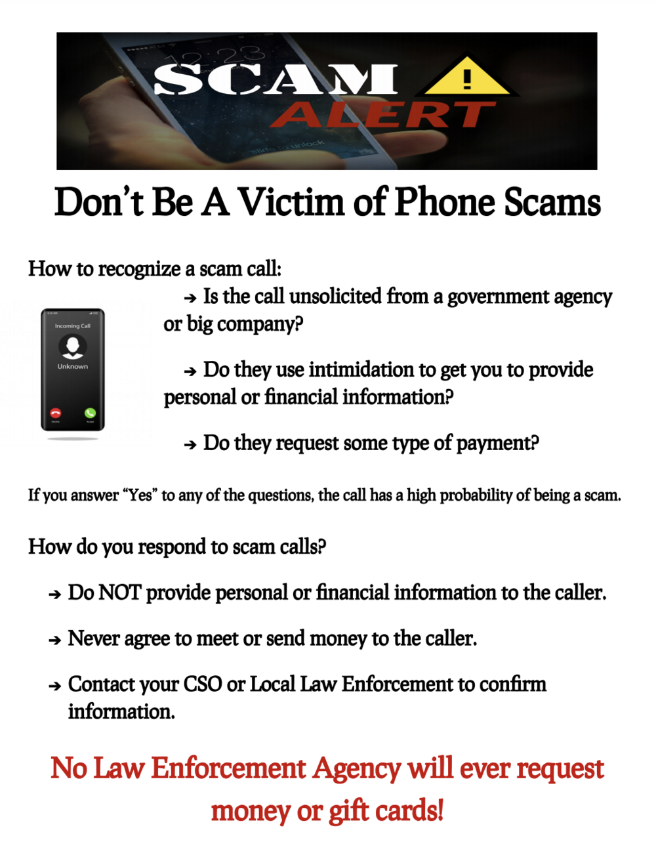 Scam Alert 8/19/2021